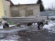 Лодка болотоход.