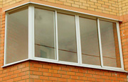 Остекление плaстиком и алюминием лоджий и балконов