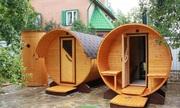 Купить баню-бочку в Воронеже/ Готовая баня-бочка под ключ