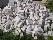 Кирпич, щебень, песок, керамзит, камень, уголь, дрова.