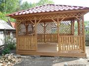Строительство беседок,  вольеров,  дачных домиков,  бань,  заборов,  летние
