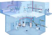 Монтаж водопровода отопления канализации