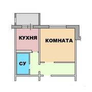 1-комнатная квартира 30 кв.м