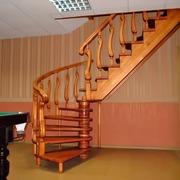 Изготовление деревянных лестниц из дуба ясеня сосны на заказ качество!